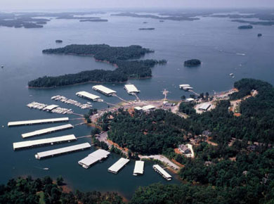 Lake Hartwell - Western border between Georgia and South Carolina